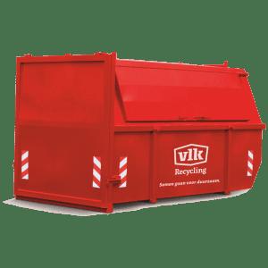 Afvalcontainers VLK Groenafval container huren 10m3 gesloten