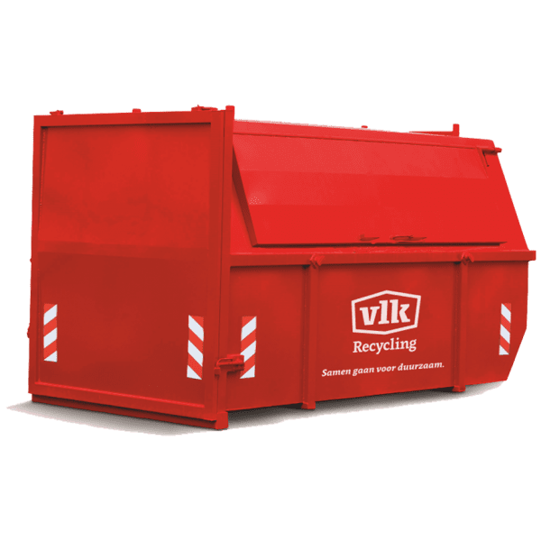 Afvalcontainers VLK Grofvuil container huren 10m3 gesloten