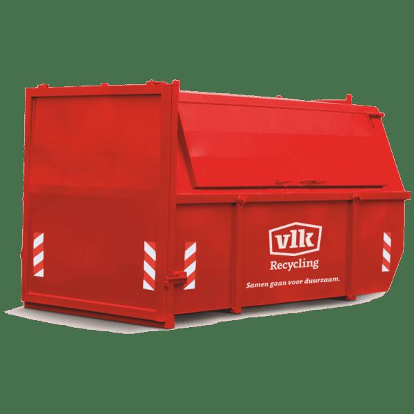 Afvalcontainers VLK Puincontainer huren 10m3 gesloten